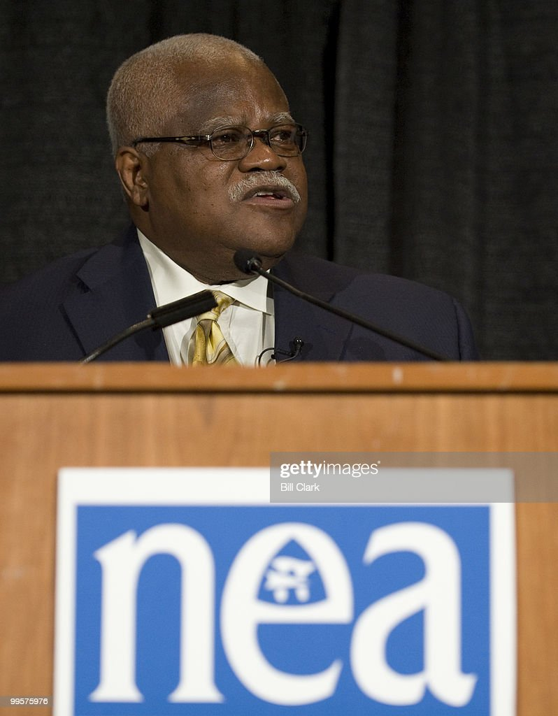 Reg Weaver, president of the National Education Association, speaks during NEA briefing on redefining the Federal role in K-12 education during the NEA's 2008 Annual Meeting at the Washington Convention Center on Wednesday, july 2, 2008.