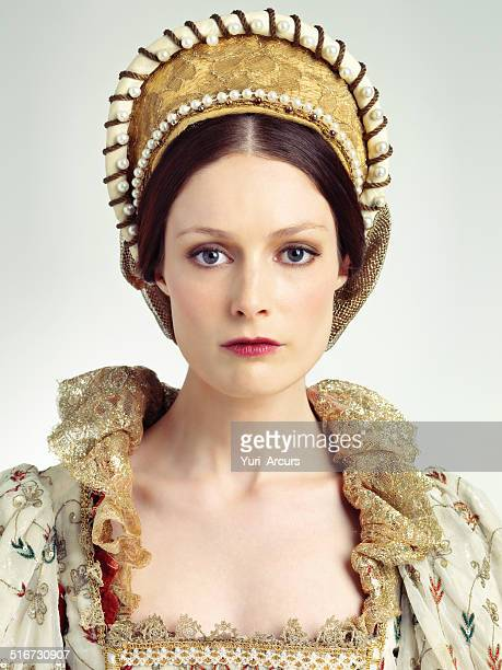 regal beauty - elizabethan style stock photos and pictures