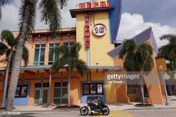 Regal Cinemas location is seen on October 05, 2020 in Kendall, Florida. The parent company of Regal Cinemas announced that it is suspending...