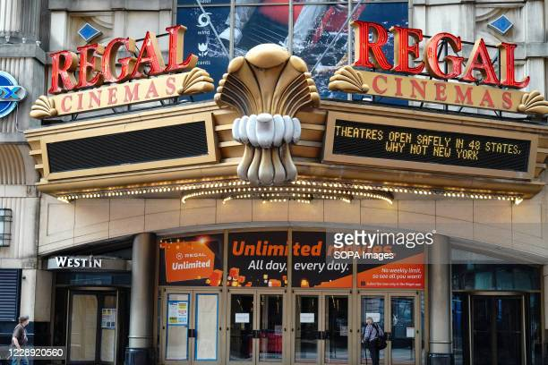 Regal Cinemas logo seen at their theatre. Regal Cinemas which is the second-largest operator of theatres in the United States, plans to close all 500...