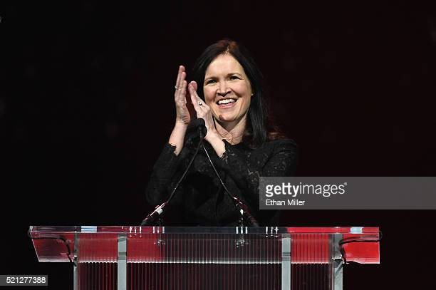 Regal Entertainment Group CEO Amy Miles speaks during the CinemaCon Big Screen Achievement Awards brought to you by the CocaCola Company at The...