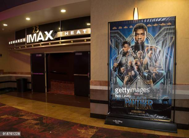 IMAX Regal Entertainment Group Walt Disney Picture and Marvel Studios hosted an advanced IMAX screening of 'Black Panther' for the Boys Girls Club of...