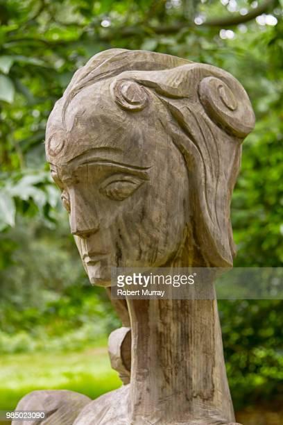 Regal Head in Wood
