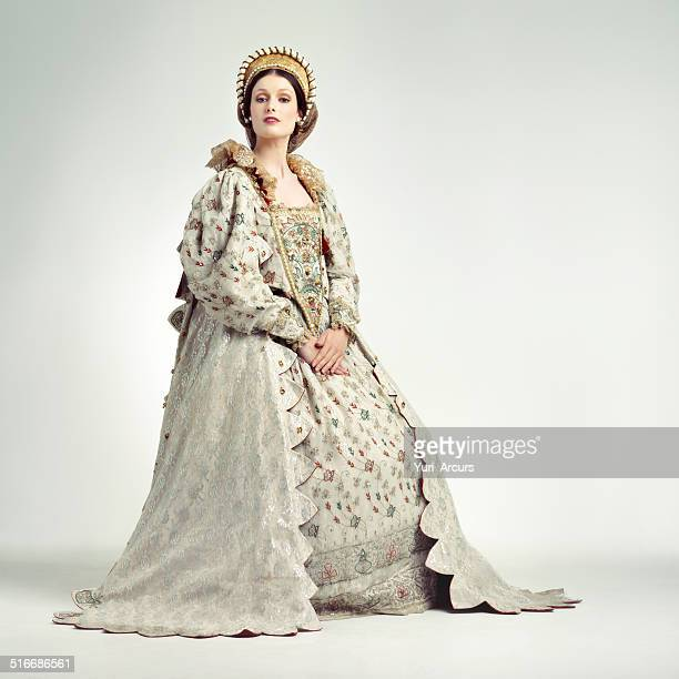 regal ruler - elizabethan style stock photos and pictures