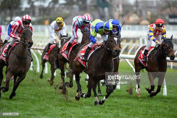 Regan Bayliss riding Ocean Embers wins Race 7 during Melbourne Racing at Caulfield Racecourse on July 2 2016 in Melbourne Australia