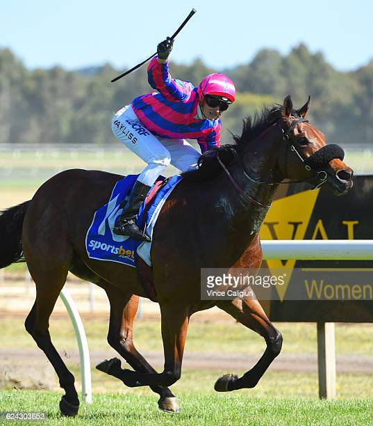 Regan Bayliss riding Pilote D'Essai wins Race 8 Sportsbetcomau Ballarat Cup at Ballarat Racecourse on November 19 2016 in Ballarat Australia