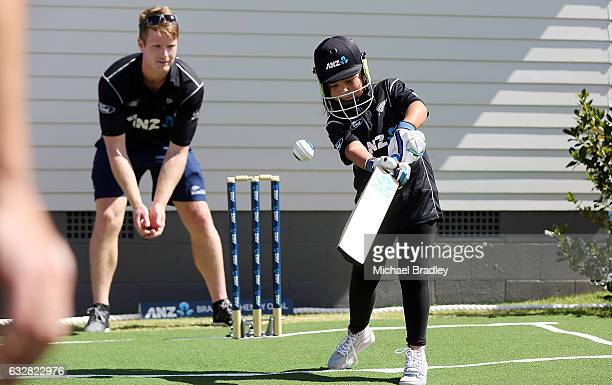 Regan BrabantHenry aged 7 in action after cricket fan Christopher BrabantHenry aged 14 from Mangere couldn't believe their luck after returning home...