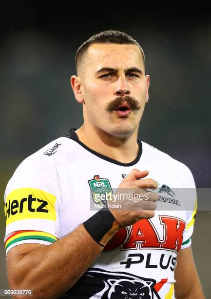 Regan CampbellGillard of the Panthers is pictured during the round 14 NRL match between the Canberra Raiders and the Penrith Panthers at GIO Stadium...