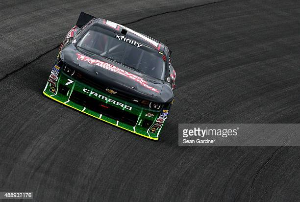 Regan Smith driver of the TaxSlayer Bowl Chevrolet practices for the NASCAR Xfinity Series Furious 7 300 at Chicagoland Speedway on September 18 2015...