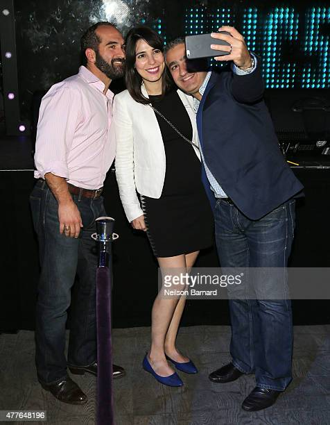 Regan Turner Nora Ayanian and guest attend GREY GOOSE Vodka Hosts The Inaugural Mic50 Awards at Marquee on June 18 2015 in New York City