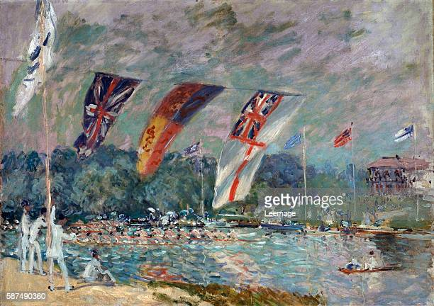 Regatta at Molesey 1874 by Alfred Sisley 1874 66x915 cm Musee d'Orsay Paris France