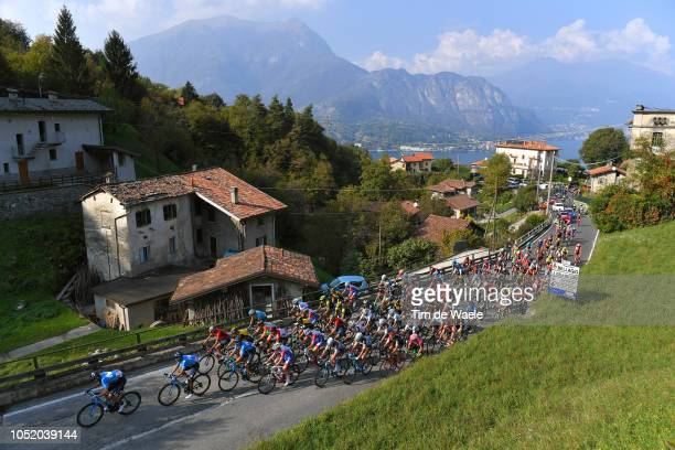 Regatta City / Como lake / Peloton / Landscape / Mountains / during the 112th Il Lombardia 2018 a 241km race from Bergamo to Como / IL / on October...