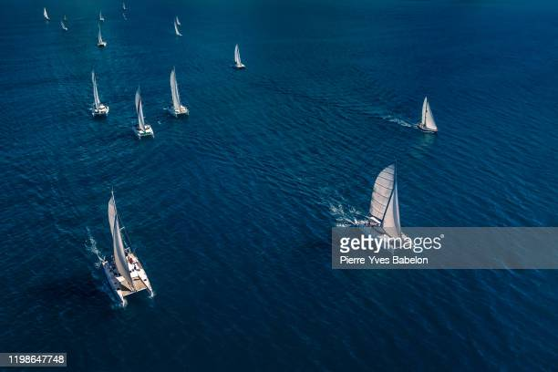 regatta in the indian ocean - sailor stock pictures, royalty-free photos & images