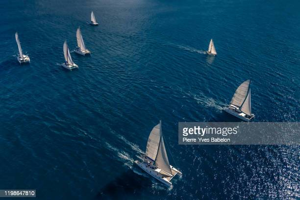 regatta in the indian ocean - sports race stock pictures, royalty-free photos & images