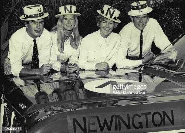 Regatta Pics. - Newington supporters, left to right, Ian Nicholas of Sunnyside Crescent, Castlecrag, Jan Barnes of Burchmore Road, Balgowlah, Gillian...