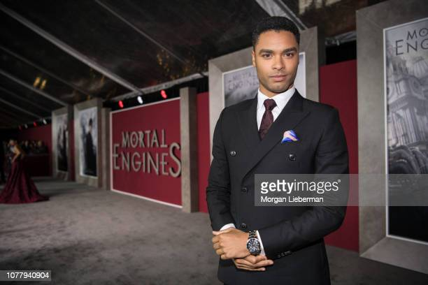 """Rege-Jean Page arrives at the premiere Of Universal Pictures' """"Mortal Engines"""" at Regency Village Theatre on December 5, 2018 in Westwood, California."""