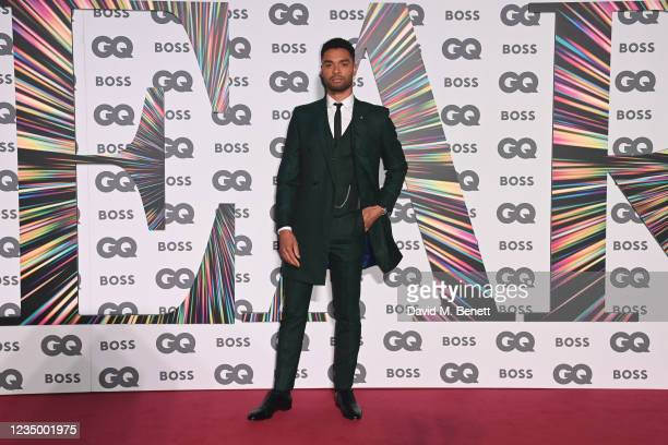 Rege-Jean Page attends the 24th GQ Men of the Year Awards in association with BOSS at Tate Modern on September 1, 2021 in London, England.