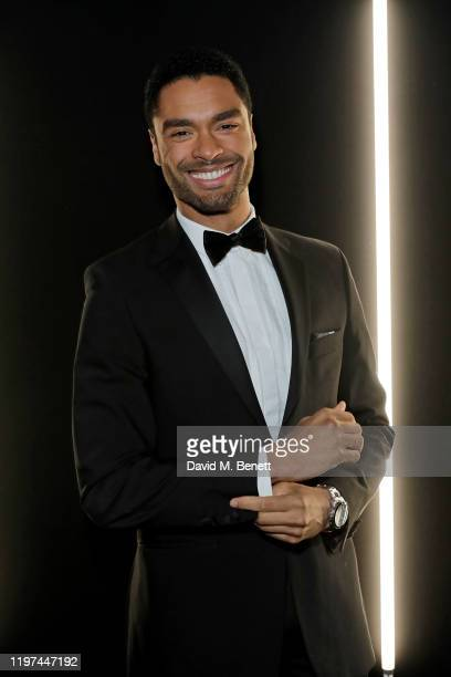 Rege-Jean Page attends the dunhill & Dylan Jones Pre-BAFTA party at dunhill Bourdon House on January 29, 2020 in London, United Kingdom.