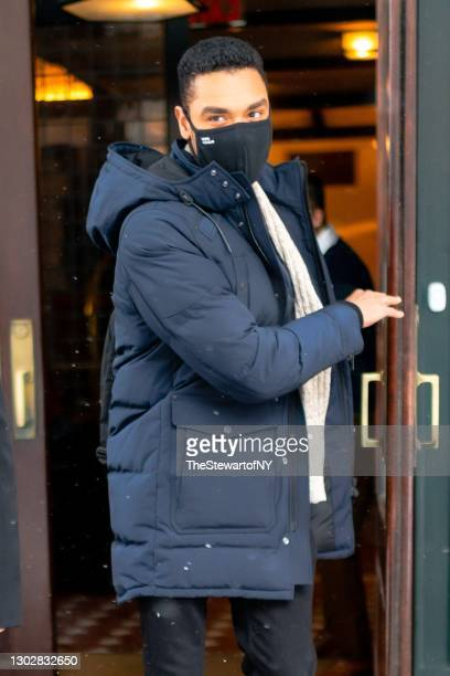 Rege-Jean Page is seen in Tribeca on February 18, 2021 in New York City.