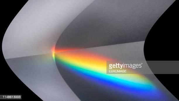 regenboog op papier. - spiritual enlightenment stock pictures, royalty-free photos & images