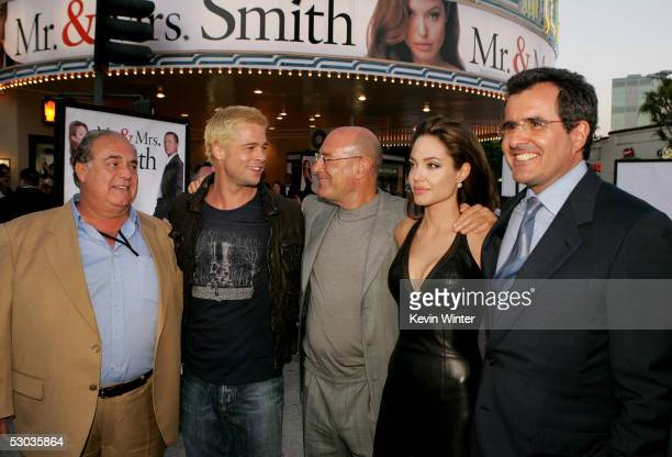 Regency Enterprises' David Matalon actor Brad Pitt Producer Arnon Milchan actress Angelina Jolie and News Corp President/Chief operating officer...