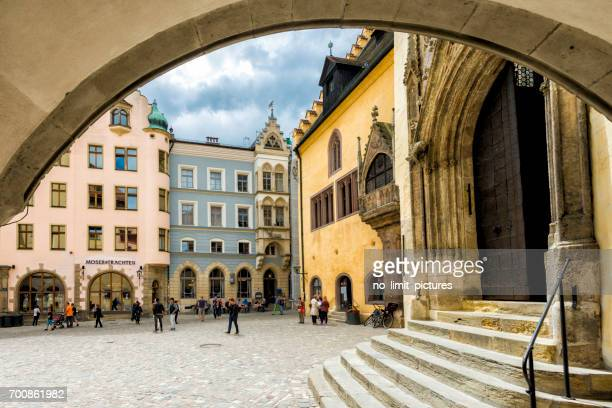 regensburg old town hall - regensburg stock photos and pictures