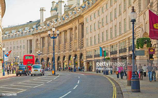 Regent Street approaching Piccadilly Circus in London