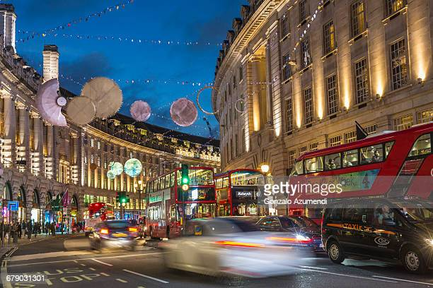 regent street in london - west end london stock pictures, royalty-free photos & images