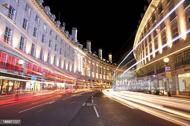 Regent Street Light Trails