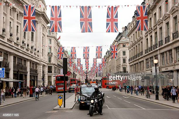 Regent Street, London decorated for the Queen's diamond Jubilee