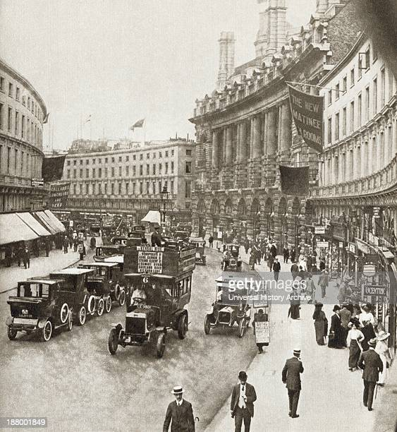 Regent Street London England In 1912 From The Story Of 25 Eventful Years In Pictures Published 1935