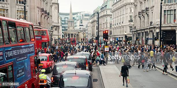 regent street london - oxford street london stock photos and pictures
