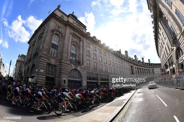 Regent Street / Peloton / Landscape / Public / Fans / during the 15th Tour of Britain 2018 Stage 8 a 77km stage from London to London / OVO Energy /...