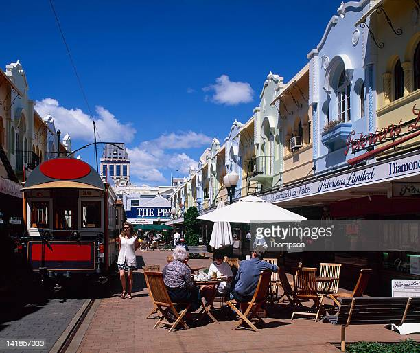 Regent Street shops and cafes, Christchurch, Canterbury, South Island, New Zealand