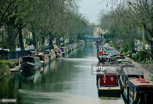 regents canal, little venice, maida vale, london - paddington london stock pictures, royalty-free photos & images