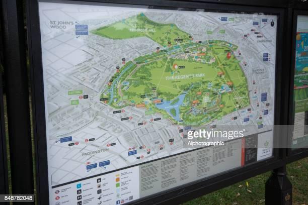 regent's park kaart - reportage afbeelding stockfoto's en -beelden