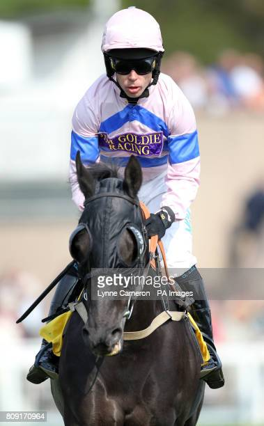 Regent's Secret ridden by Graham Lee after winning The Crabbie's Alcoholic Ginger Berr Handicap Steeple Chase during day three of the Perth Festival...