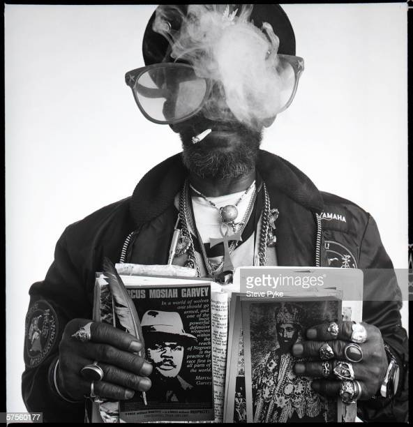 Reggae and dub musician Lee 'Scratch' Perry mid 1980s