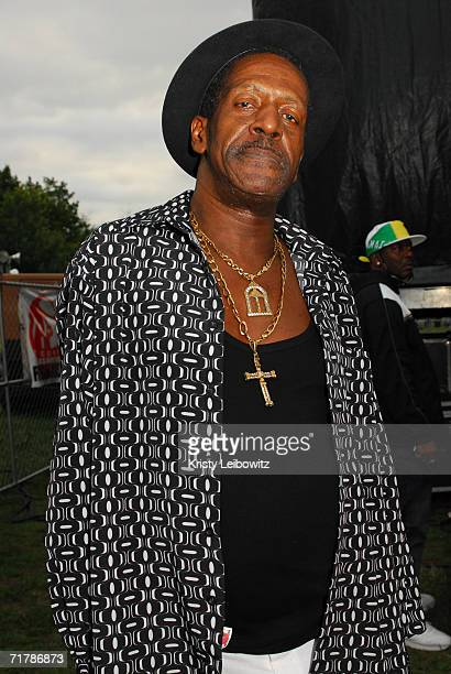Reggae Artist Gregory Isaacs poses for a photo at the Irie Jamboree on September 4 2006 in New York