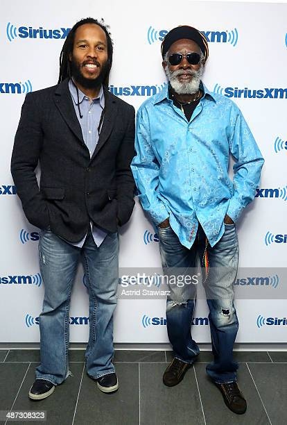 Reggae musicians Ziggy Marley and Burning Spear visit the SiriusXM Studios on April 29 2014 in New York City