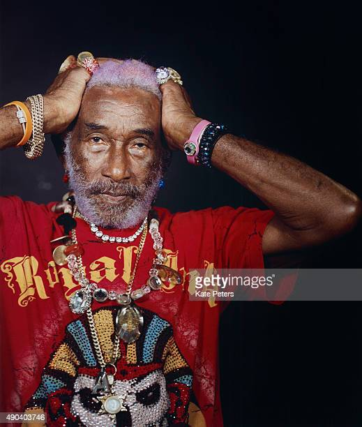 Reggae producer Lee Scratch Perry is photographed for the Guardian on March 22, 2014.