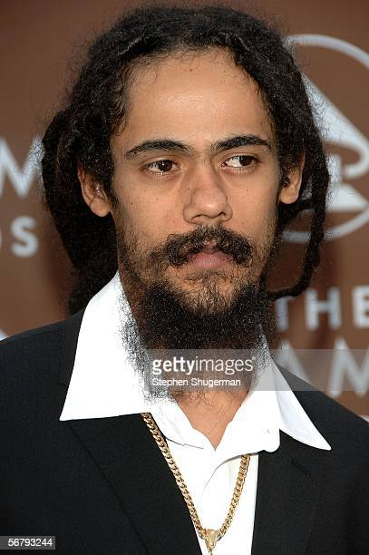 Reggae singer Damian Marley son of the late reggae legend Bob Marley arrives at the 48th Annual Grammy Awards at the Staples Center on February 8...