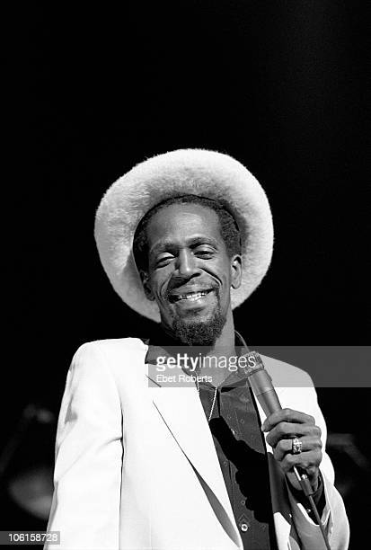 NEW YORK NOVEMBER 02 Reggae singer Gregory Isaacs performs live on stage at The Savoy in New York City on November 02 1981