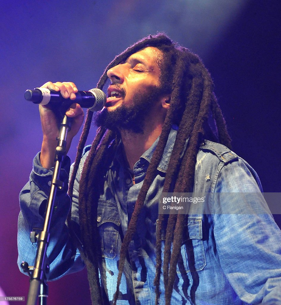 Reggae Singer Julian Marley performs during the 2013 Reggae on the River Music Festival on August 3, 2013 in Piercy, California.
