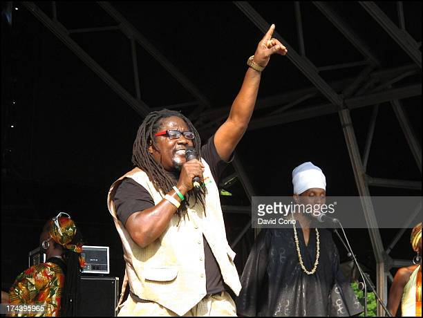 Reggae singer Mikey General performs on stage at the Lambeth Country Show in Brockwell Park London 21st July 2013