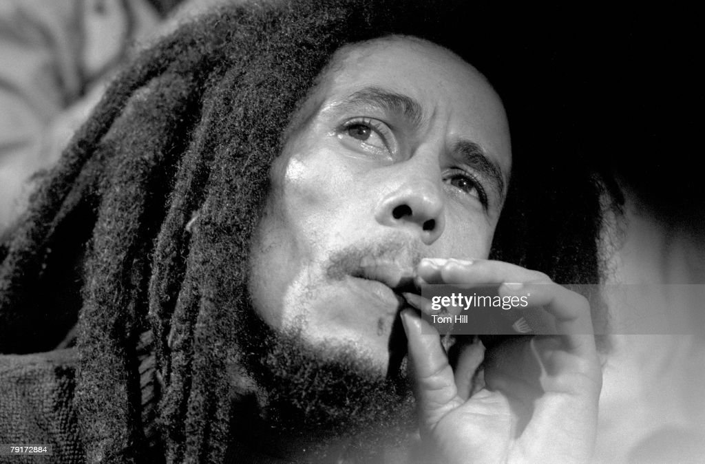 Bob Marley, being interviewed after the show at the Fox Theater