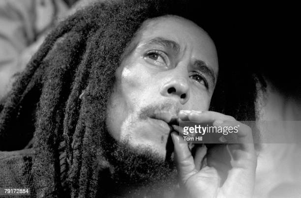 Reggae singer-guitarist Bob Marley is interviewed after performing at The Fabulous Fox Theater on November 12, 1979 in Atlanta, Georgia.