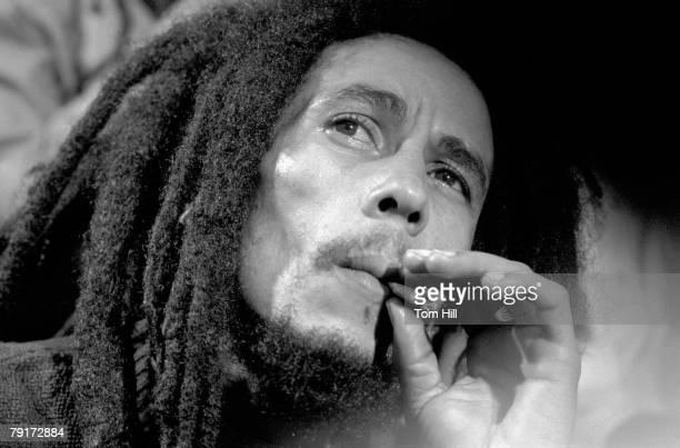 Reggae singerguitarist Bob Marley is interviewed after performing at The Fabulous Fox Theater on November 12 1979 in Atlanta Georgia