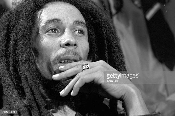 Bob Marley being interviewed after the show at the Fox Theater