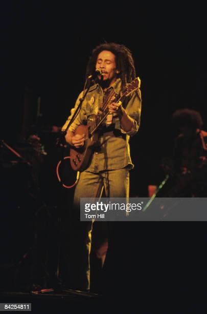 Reggae singerguitarist Bob Marley performs at The Fabulous Fox Theater on November 12 1979 in Atlanta Georgia